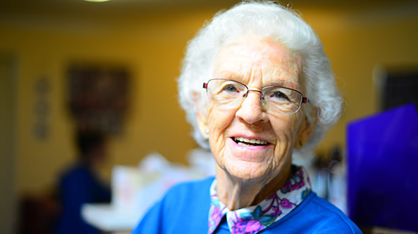 elderly senior in facility